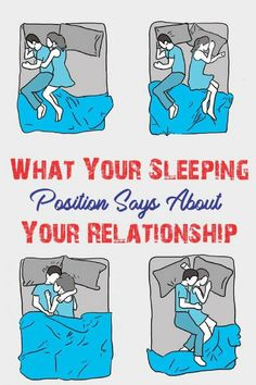 !! .What Your Sleeping Position Says About Your Relationship!
