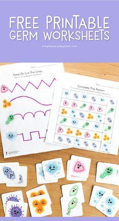 Free Printable Germ Worksheets For Kindergarten - Germ Activities For Kids Body Preschool, Free Preschool, Preschool Lessons, Lessons For Kids, Kindergarten Worksheets, Homeschool Kindergarten, Manners Preschool, Abeka Homeschool, Homeschooling