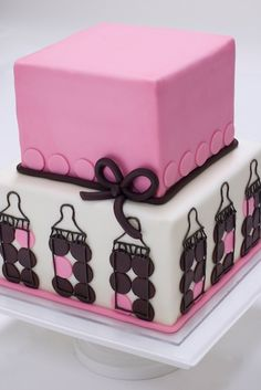 Girl's Baby Shower - Pink and Brown