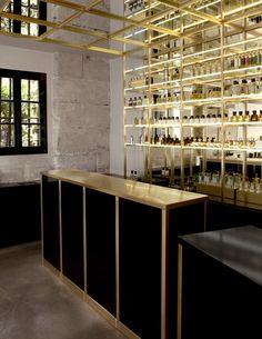 The Liquides Perfume Bar in Marais, Paris ideas interior design Restaurant Bar, Restaurant Design, Design Hotel, Commercial Design, Commercial Interiors, Shop Interior Design, House Design, Interior Ideas, Design Food