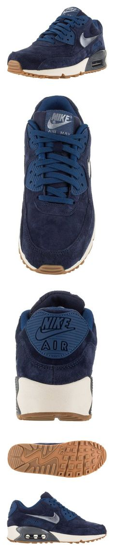 $2000 - 818598-400 WOMEN AIR MAX 90 PRM SUEDE NIKE MIDNIGHT NAVY/SAIL/GHOST…