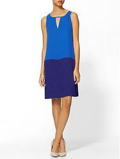 Tinley Road Cutout Colorblock Mini Dress | Piperlime; dropped waist elongates my short torso; would prob need to belt it