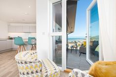 Seating on the balcony of 25 The Dunes, Perranporth, Cornwall North Cornwall, Holiday Apartments, The Dunes, Two Bedroom, Balcony, England, Contemporary, Home Decor, Decoration Home