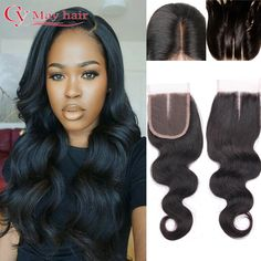 7A Brazilian Body Wave Closure 1B 4x4 Inches Swiss Lace Closure Bleached Knots Virgin Human Hair Closure Piece