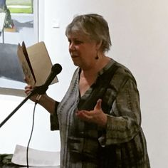 Sandra McPherson delights the crowd with excerpts from her latest Sean Scythe Press book.