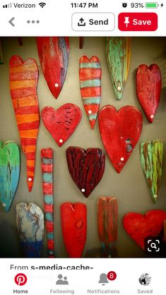 Wooden Hearts - Luon StPierre - looks good in salt dough or to . - Wooden Hearts – Luon StPierre – looks good in clay or clay? Clay Projects, Clay Crafts, Diy And Crafts, Arts And Crafts, I Love Heart, Happy Heart, Heart Crafts, Paperclay, Wooden Hearts