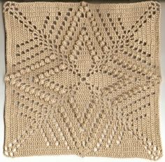 ✦ ✧ ✦ Colcha de Crochê Com Quadrados -  /  ✦ ✧ ✦  Bedspread In Crochet With Squares -