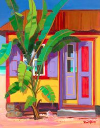 Banana Cabana - Caribbean Tropical Art