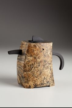 Art Liestman - teapot (idea for a handle. also exaggerated smallness of spout, lid and handle. very nice.