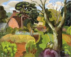 Glyn Morgan - Cedric Morris in His Garden, 1957 Great Paintings, Colorful Paintings, Art And Illustration, Illustrations, Pablo Picasso, Landscape Art, Landscape Paintings, Uk Landscapes, Morris