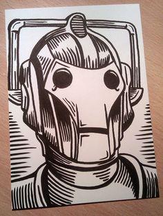 AMAZING Doctor Who Cyberman Illustration. <3