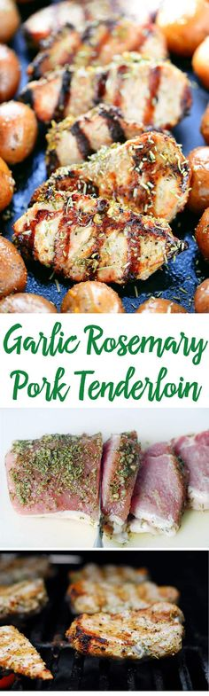 Delicious Garlic Rosemary Pork Tenderloin recipe that is done in less than 10 minutes on the grill! Perfect for the summer barbecue season. It's also easy to make on the stovetop during the winter months.