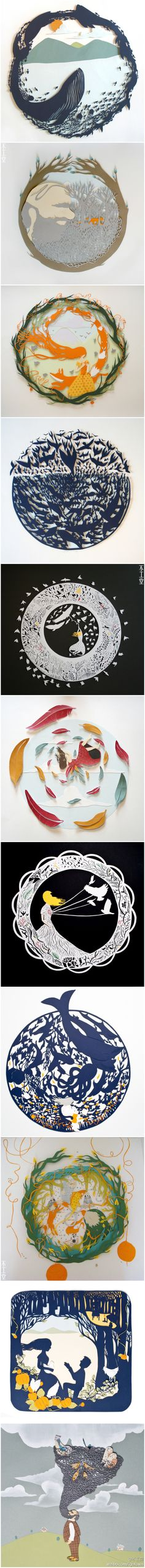 又是纸艺,又是有故事的作品,来自英国的Sarah Dennis的刻纸杰作。纸艺我们介绍过太多了,堆积的赞美也太多,这次就不唠叨了,看图吧!