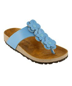 Look what I found on #zulily! Turquoise Triple Bloom Sandal by RK Collection #zulilyfinds