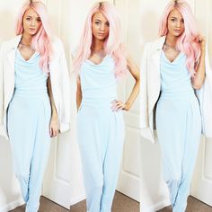 In Love With Fashion Jumpsuit, Miss Selfridge White Tailored Coat, Primark Necklace
