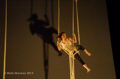 andie scott -  The National Centre for circus Arts - Gaia Santuccio- rope - photo mark morreau