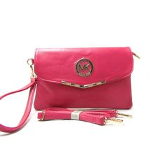 Michael Kors Fulton Messenger Small Fuchsia Crossbody Bags