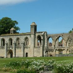 Glastonbury Abbey official page.  This is the legendary burial place of King Arthur & Queen Guinevere.