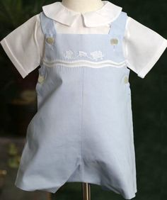 Feltman Brothers Shadow   Embroidered Romper