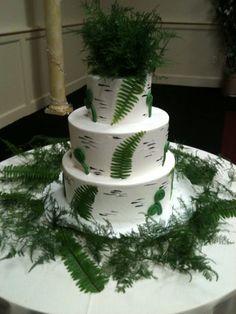 Fern with Fiddleheads Wedding Cake
