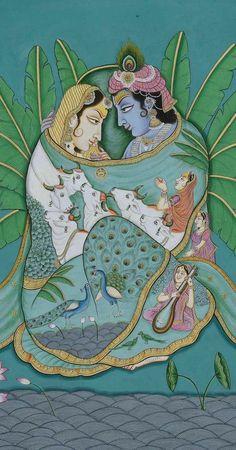 Radha Krishna Images, Lord Krishna Images, Krishna Pictures, Krishna Art, Hare Krishna, Krishna Leela, Pichwai Paintings, Mughal Paintings, Indian Art Paintings