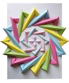 images of oragami | Origami Mosaics – The creations of Kota Hiratsuka | Ufunk.net
