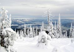 Schweitzer Mountain in Northern Idaho. One of my favorite places to snowboard.
