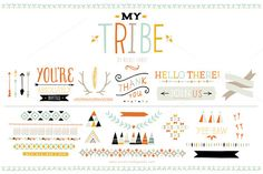 My Tribe (Vector) by Small Made Goods on Creative Market