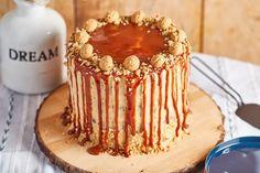 Mogyoróvajas, sós mogyorós torta Tiramisu, Food And Drink, Cookies, Baking, Cake, Ethnic Recipes, Mini, Crack Crackers, Biscuits