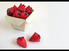 Origami Strawberry --Fresa (+lista de reproducción)