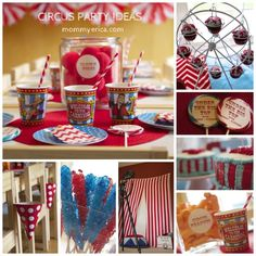 Circus Party Ideas and Carnival Party ideas Circus Games, Circus Cake, Circus Cupcakes, Circus Food, Circus Prizes, DIY Photo Booth www.mommyerica.com