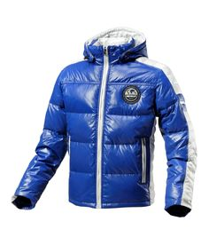 BYCOL - NAVY BLUE  Down jacket (90% down, 10% feather) with hood.  €250.00    __    BYCOL - BLEU MARINE  Doudoune brillante homme capuche (90% duvet, 10% plume).  250.00 €