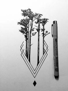 Daily Drawings by Derek Myers – Fubiz Media www.age… Daily Drawings by Derek Myers – Fubiz Media www. Illustration Tattoo, Ink Illustrations, Wolf Tattoos, Nature Tattoos, Tatoos, Rib Tattoos, Tattoo Ribs, Tattoos For Men, Desenho Tattoo