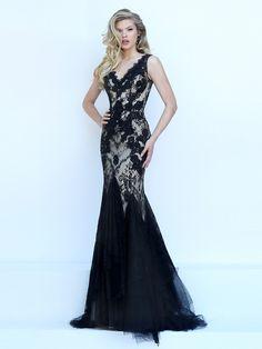 Trumpet/Mermaid Sleeveless V-neck Applique Tulle Sweep/Brush Train Dresses