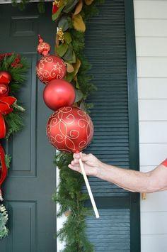 Christmas Ornament Topiary #christmasdecorationsoutdoor
