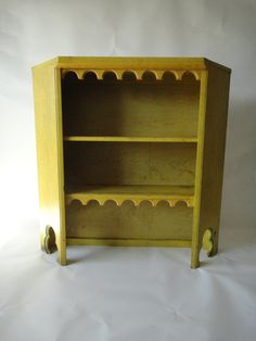 Mexico Inspired Distressed Yellow Bookcase Los Angeles by housecandyla, $250.00