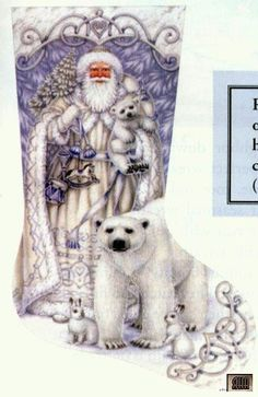ru / Фото - Stocking Santa and Arctic friends - Sysanna Cross Stitch Christmas Stockings, Cross Stitch Stocking, Xmas Cross Stitch, Xmas Stockings, Christmas Cross, Cross Stitching, Cross Stitch Embroidery, Cross Stitch Designs, Cross Stitch Patterns