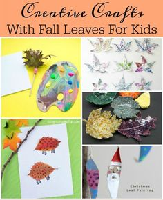 We all have them in our yards come fall time. Lets turn those fun shaped leaves into creative crafts and activities for your kids to enjoy. - Diy Ideas for The Home Autumn Activities For Kids, Crafts For Kids To Make, Craft Activities, Kids Crafts, Art For Kids, Church Activities, Children Activities, Creative Activities, Christmas Leaves