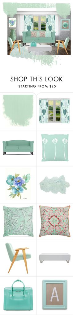 Minty Mint by m-aviles-ma on Polyvore featuring interior, interiors, interior design, home, home decor, interior decorating, Amara, Charter Club, The Peanut Shell and Silken Favours