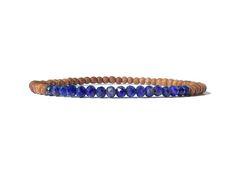 blue lapis lazuli sandalwood bracelet / womens small bead Lapis Lazuli Bracelet, Elastic Thread, Simple Jewelry, Gemstone Beads, Beaded Bracelets, Gemstones, Stuff To Buy, Blue, Etsy