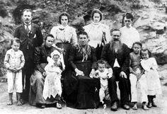 Familía de imigrante italianos no Brasil