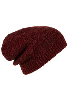 Two Tone Zigzag Beanie (topshop)--- works for long hair, works with short hair; keeps your ears warm too