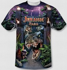 a83dd4d7261af New Welcome To Jurassic Park T-Rex All Over Front Sublimation Youth T-Shirt