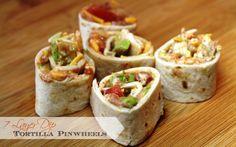 7 layer dip tortilla pinwheels | easy to make & a fun variation to eat!