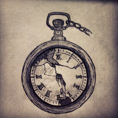 pocket watch tattoo - have an old one from way back in the family, that'd be nice and sentimental #тату #tattoo #tatoo tatoo24.wordpress.com