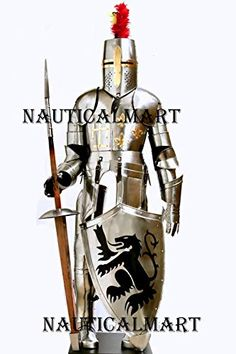 NauticalMart Medieval Reenactment Crusader Full Body Suit of Armor