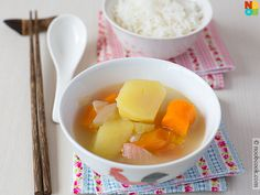 "Easy recipe for Chinese ""ABC"" Soup - Pork Ribs with Potatoes, Carrots and Assorted Vegetables"