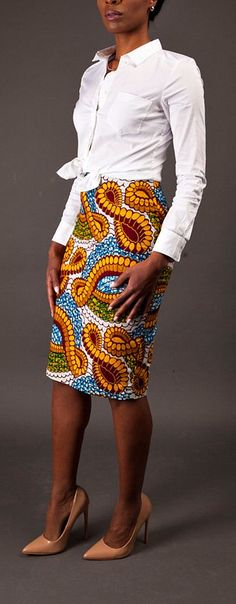 NEW The Ramonde II Skirt (Knee Length or Midi Length Option). Ankara | Dutch wax | Kente | Kitenge | Dashiki | African print dress | African fashion | African women dresses | African prints | Nigerian style | Ghanaian fashion | Senegal fashion | Kenya fashion | Nigerian fashion | Ankara crop top (affiliate)