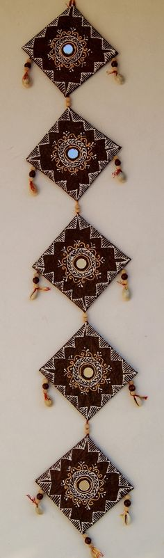 Traditional handcrafted wall hanging in handmade paper and cardbord.its handmade artistically carved based on rajasthani mandna art. Baby Crafts, Crafts To Do, Arts And Crafts, Rajasthani Art, Hanging Garland, Indian Crafts, Art N Craft, Wooden Decor, Craft Projects