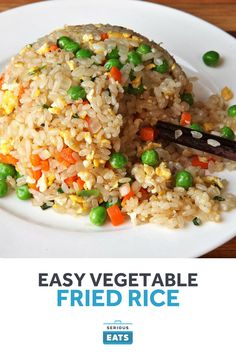 Fried rice with tender-chewy texture and individual grains of rice.